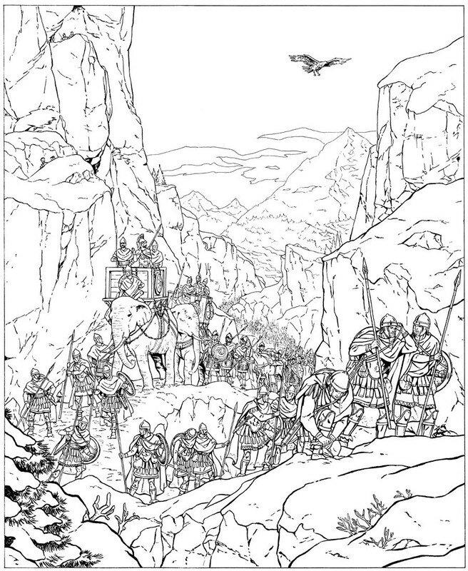 L'armée d'Hannibal traverse les Alpes