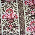 2024 - tissu ancien napoleon iii - 38 x 75 couture patchwork