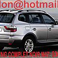 BMW X3, BMW X3, covering BMW X3 <b>noir</b> <b>mat</b>