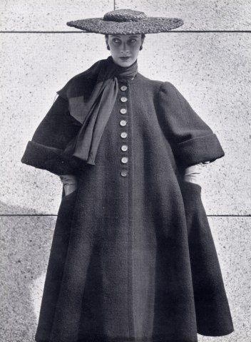 Balenciaga 1951 Winter Coat Hat.