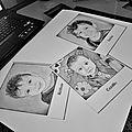 Triple portrait de petits mecs!
