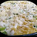 { thermomix } gratin de coquillettes, courgettes & babybel