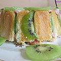 Gâteau aux kiwis à la fraise