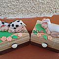 contenant à dragées;baby ,vache ,agneau