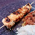 Brochettes au curry et ras el hanout - by claire -
