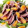 Salade tiède de magret à la clémentine