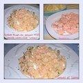 Salade russe au saumon rose et mayonnaise maison