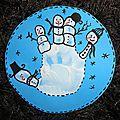 Bonshommes de neige - empreinte de main