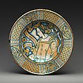 Dish with profile of a woman with Petrarchan verse, ca. 1510–30, <b>Deruta</b>
