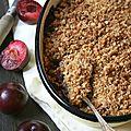 Crumble aux prunes et à la farine de kamut