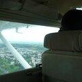 Baptême de pilotage au dessus du stade des lumières... la grande classe! appeler moi commandant...!
