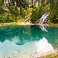 Découverte du Valais - Arolla : Le <b>lac</b> Bleu et la cabane des Aiguilles Rouges - 21 Juillet 2018