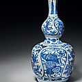 A rare blue and white double-gourd vase, wanli period (1573-1619)