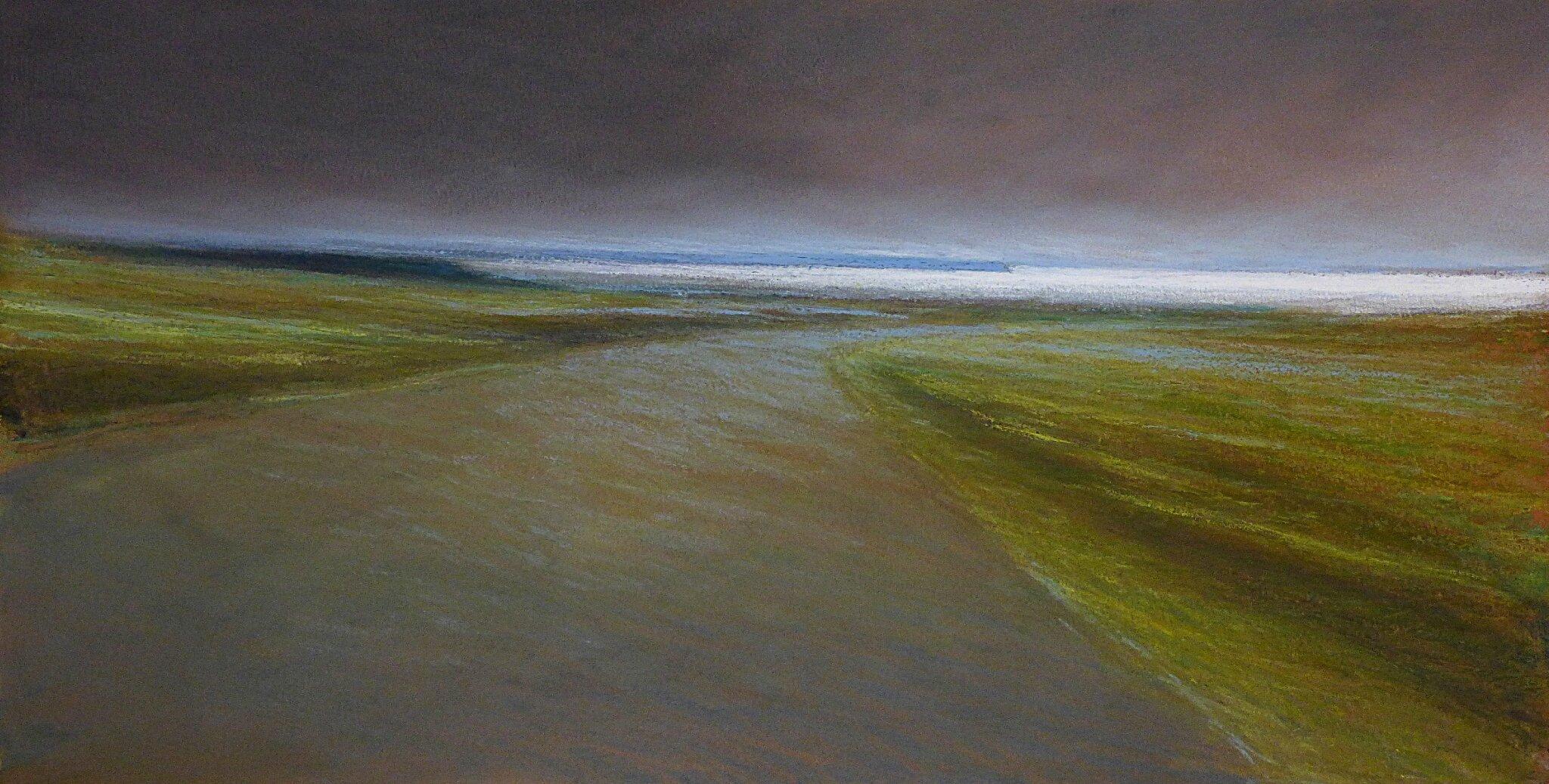 horizon elevation 76, janv 2017, pastel à l'huile, 48 x 32 cm