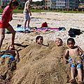 una cama de arena