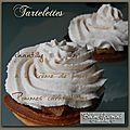 Mini-tartelettes aux pommes caramélisées, chantilly à la crème de marron