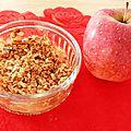 Crumble pomme-amandes-coco aux flocons d'avoine