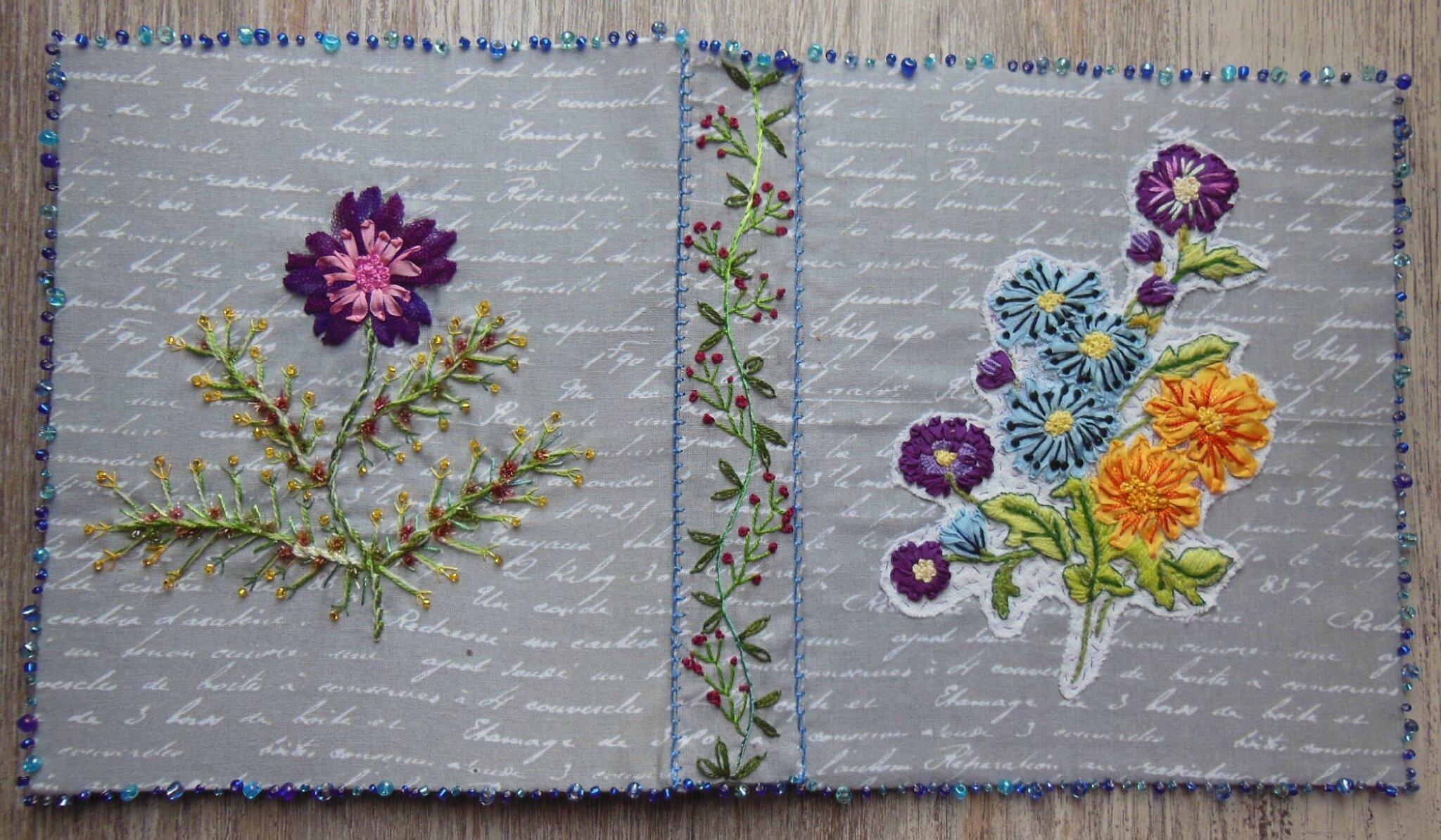 Carnet textile couverture (3)