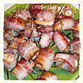 Crevettes au lard
