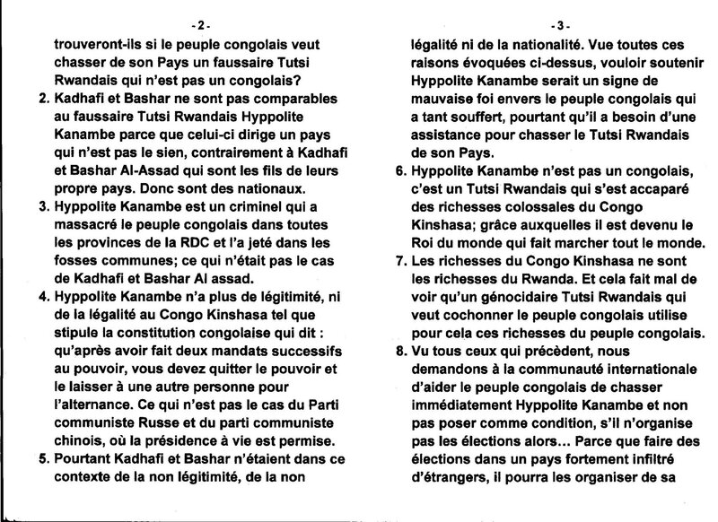LE PROBLEME DE LA LYBIE EST DIFFERENT DU PROBLEME DE LA RDC b