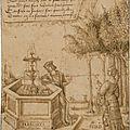 Ecole bourbonnaise du premier quart du <b>XVIème</b> <b>siècle</b>, Narcisse se mirant dans la fontaine d'amour, épié par Echo