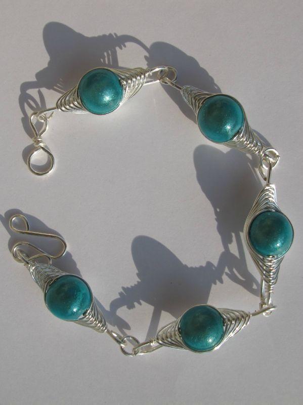 bracelet wire turquoise