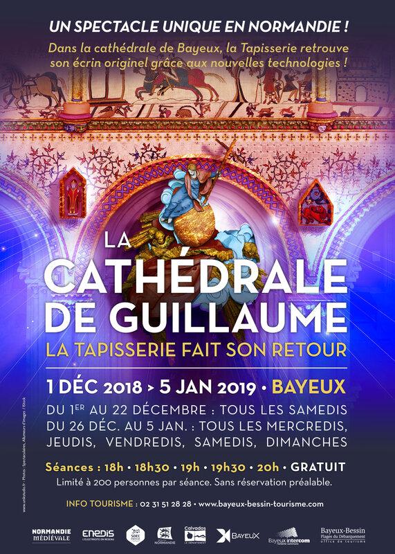BAYEUX: les fééries de la cathédrale de GUILLAUME sont à admirer jusqu'au 5 janvier 2019