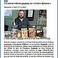 Un peu de publicité pour kamash, auteur éditeur pianenc, au «centre del mon»