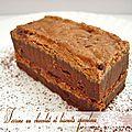 Terrine au chocolat et biscuits speculoos