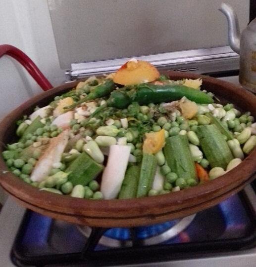 la cuisson est en cours