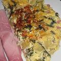 Omelette blettes, chèvre, parmesan & jambon