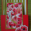 Carte double rabat Painted poppies
