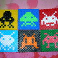 Space-invaders coasters