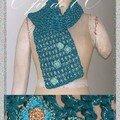 Légère écharpe bleu et argent