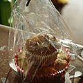 Muffins chocolat blanc & cranberries