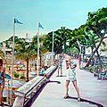Cannes 2011 - huile sur toile - 100 cm / 80