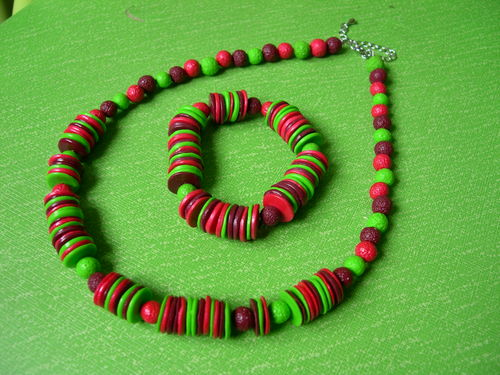 Collier perles plates de Camille