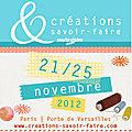 Salon créations et savoir-faire du 21 au 25 novembre