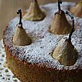 Torta alle pere e noci - gâteau aux poires et noix