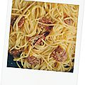 Carbonara au chorizo façon jamie oliver