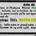 Montocchio Amélie née Buttié_Madagascar Industriel commercial agricole_Décès 19.8.1933