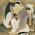 Lê <b>Ph</b>ổ (1907-2001), La famille (The Family), circa 1938-40