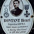 BONTANT Lucien (Nohant Vic) + 23/10/1916 Morval (<b>80</b>)