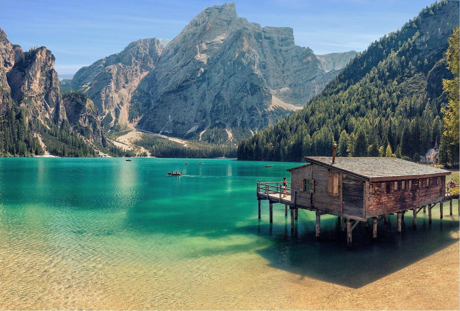 Brunico et lac de Braies