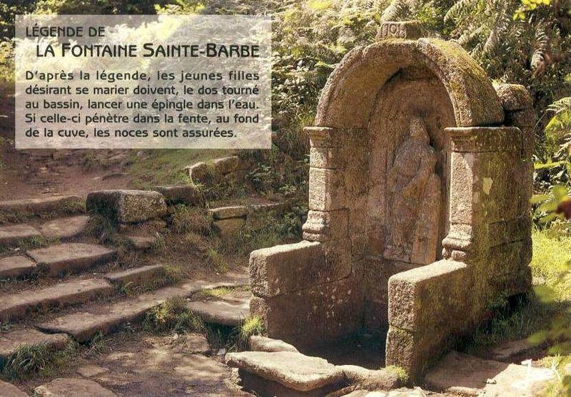 Le Faouët, fontaine Ste Barbe