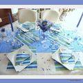 Le bleuet et le myosotis s'invitent à ma table......