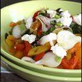 Salade de poivrons confits à la ricotta