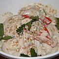Crevettes au lait de coco et aux epices