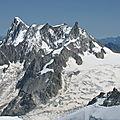 Les Grandes Jorasses, vue depusi l'Aiguille du Midi (74)
