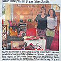 Crapule Factory à son article dans le Dauphiné libéré pour sa dingue vente de Noel artisanale à Aix les bains